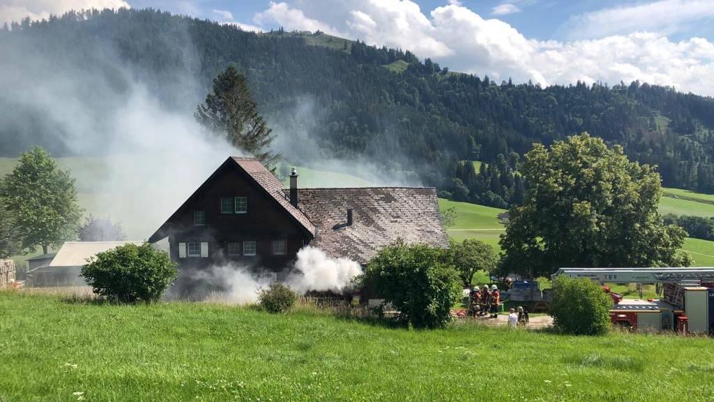 Deshalb brannte die Scheune in Hundwil