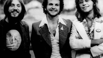 """1976 waren """"America"""" noch als Trio unterwegs: Dewey Bunnel, Dan Peek und Gerry Beckley (v.l.) (Archiv)"""