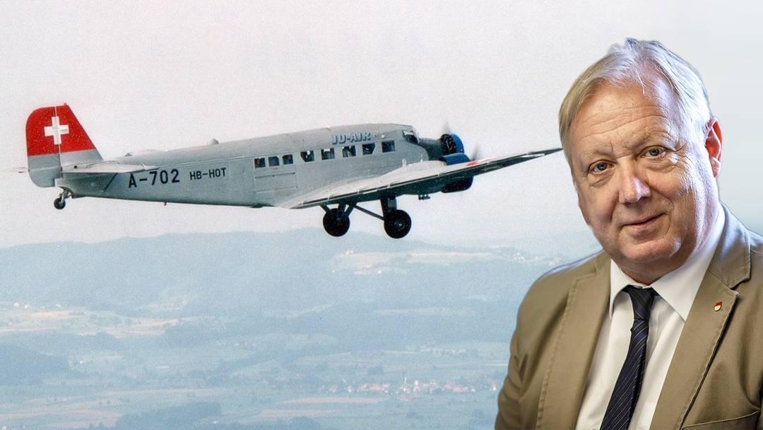 Tief betroffen: Aviatikjournalist Peter Brotschi nach Ju-Absturz