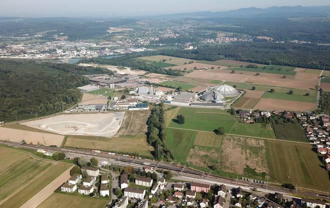 Das Entwicklungsgebiet Rheinfelden Ost beim Bahnhof Möhlin
