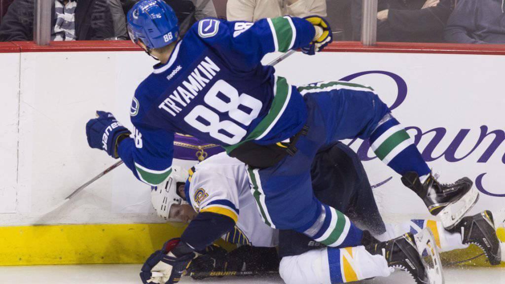 Die Vancouver Canucks mit Nikita Trjamkin werden die NHL-Playoffs wohl verpassen