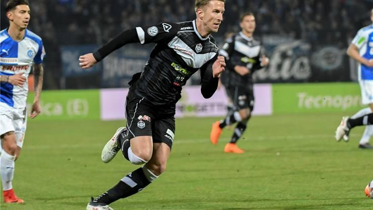 Marc Janko bei seinem Debüt für Lugano am 17. Februar gegen GC. Seither sind vier weitere Spiele im Dress der Luganesi sowie ein Tor dazugekommen. Freshfocus