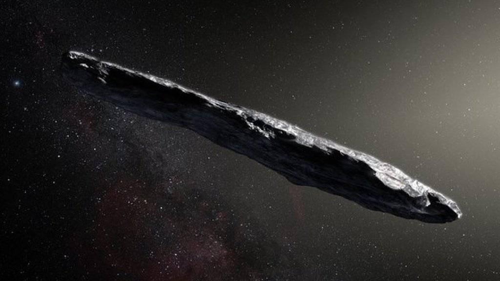 So könnte 'Oumuamua aussehen. Aber vielleicht handelt es sich gar nicht um einen Kometen aus Stein und Eis. Zwei US-Forscher vermuten dahinter ein Stück Alien-Technologie.