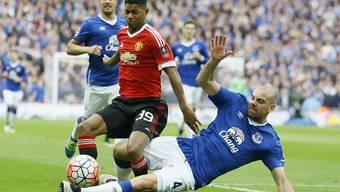 Manchester United und Everton boten sich im Wembley-Stadion einen spektakulären Schlagabtausch