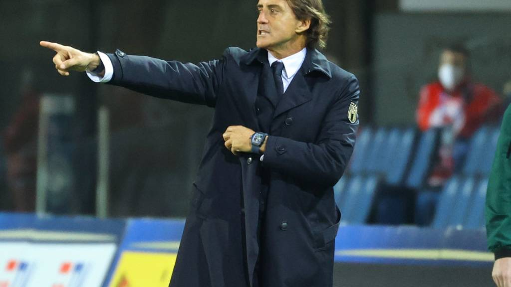 Fraglich, ob er bei den nächsten Länderspielen an der Linie dirigieren kann: Italiens Nationaltrainer Roberto Mancini