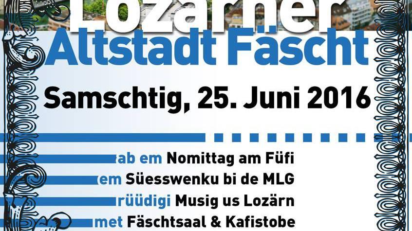«Lozärner Altstadt Fäscht» kommt zurück!