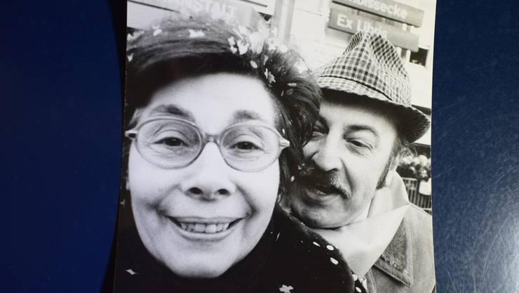 Ella Rehberg zusammen mit Werner Muster, ebenfalls langjähriges Mitglied des Fasnachts-Comités.