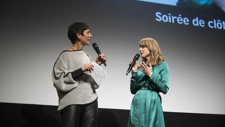 Seraina Rohrer (rechts) hatte einiges zu erzählen.