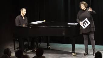 Philippe Kuhn und Patti Basler bei der Premiere von «Nachsitzen» im Thik Baden.