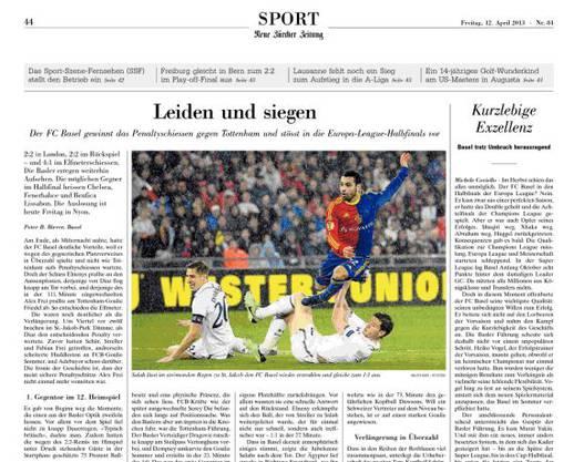 Wie der «Tages-Anzeiger» hatt auch die «Neue Zürcher Zeitung» mit dem FCB mitgefiebert: «Leiden und siegen», lautet das Fazit.