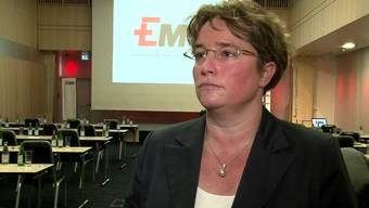 Ems-Chefin Magdalena Martullo: Ihr Ehemann Roberto Martullo kämpft für die Abzocker-Initiative, ihr Vater Christoph Blocher dagegen. (Archiv)