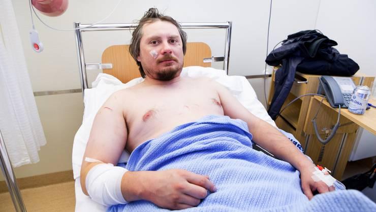 Jakub Moravec aus Prag wurde von einem Eisbär angegriffen