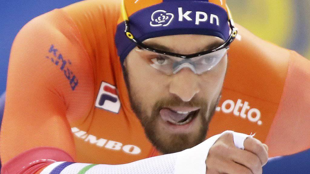 Kjeld Nuis erreichte auf Kufen ein Tempo von 93 km/h