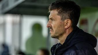 Muss Aarau-Trainer Marinko Jurendic nach der Vorrunde seine Sachen packen?