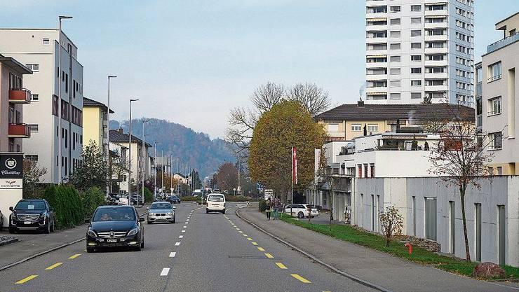 Die Limmattalbahn soll auf Zürcherstrasse in Neuenhof fahren.