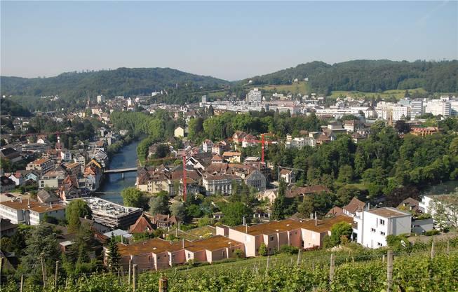 Keine SVP-Hochburg: Ennetbaden (vorne).