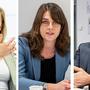 Esther Keller, Stephanie Eymann und Beat Jans (v.l.) bei der hitzigen Diskussion