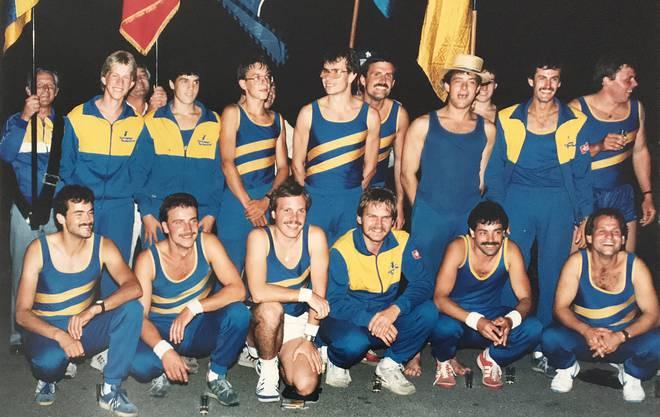 2. Schweizermeister-Titel 1987: Weiterer Höhepunkt ist die erfolgreiche Titelverteidigung des Schweizermeistertitels in den Sprüngen 1987.