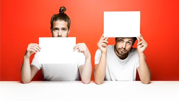 Ich sehe was, was du nicht siehst – Häberli und Oggier machen Comedy über die Macht der Worte.