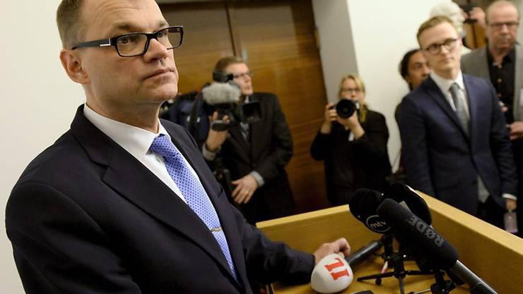 Der neue finnische Regierungschef Juha Sipilä kämpft mit einer schwierigen Wirtschaftslage in seinem Land (Archiv)