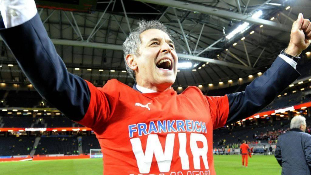 Marcel Koller feiert mit Österreich die Qualifikation für die EM-Endrunde 2016 in Frankreich