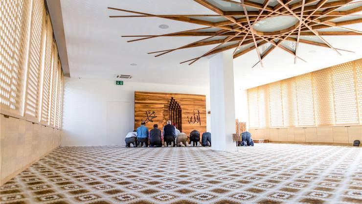 Dicker Teppich und eine Handvoll Männer, ausgerichtet nach Mekka. Die bosnische Moschee in Schlieren gilt als besonders schön, wenn nicht als schönste in der ganzen Schweiz.