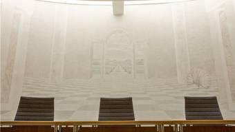 Im Gerichtssaal des Bezirksgerichtes Kulm.