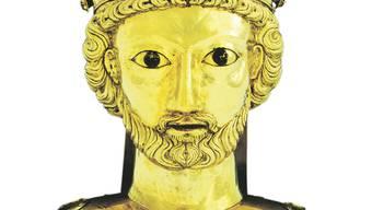 Meisterwerk der Basler Goldschmiede-Kunst: Büste des heiligen Pantalus.