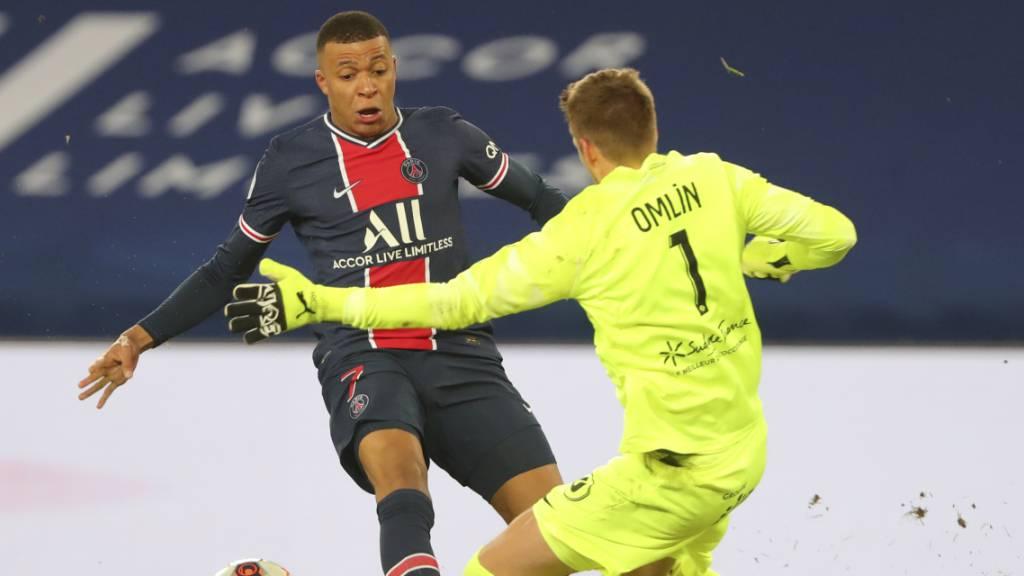 Montpellier geht bei PSG nach Rot gegen Omlin unter