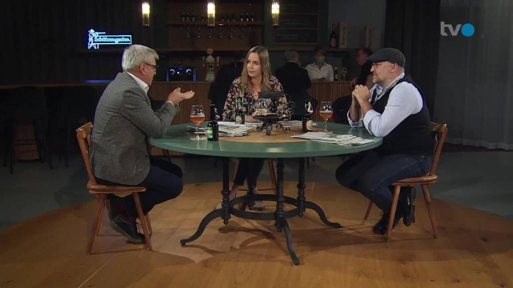 Am Stammtisch mit Victor Rohner und  Ralph Weibel