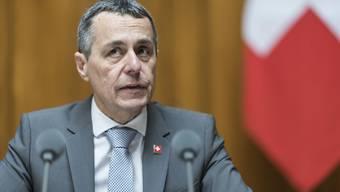 Kurz nach seiner Wahl geriet Bundesrat Ignazio Cassis (FDP) in Bedrängnis – wegen einer heiklen Mitgliedschaft. (Archivbild)