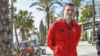 Fabian Frei im Trainingslager des FC Basel in Marbella.