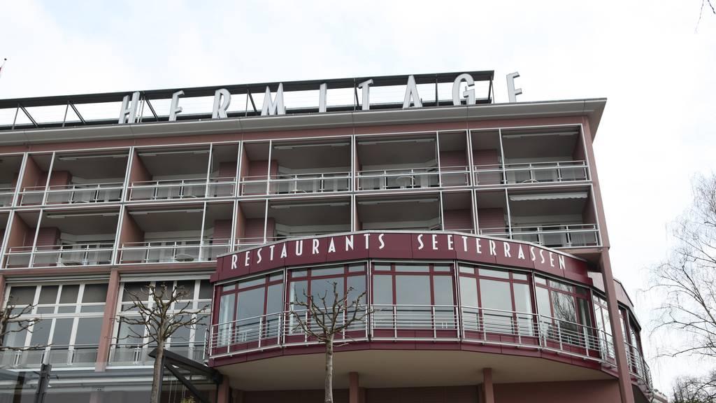 Brand im Seehotel Hermitage in Luzern
