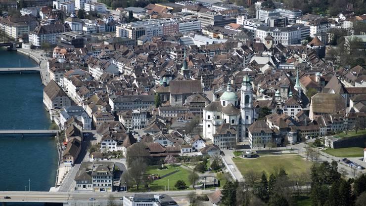 Lufaufnahme der Altstadt Solothurn