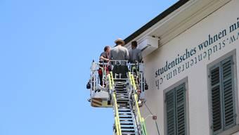 Feuerwehr und Naturschützer spannen an einer Feuerwehrübung in Brugg zusammen