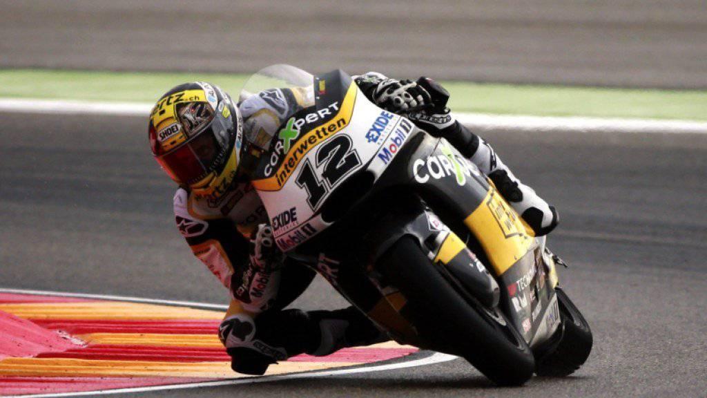 Tom Lüthi lag am ersten Trainingstag zum Moto2-Rennen in Aragonien deutlich hinter WM-Leader Franco Morbidelli zurück.