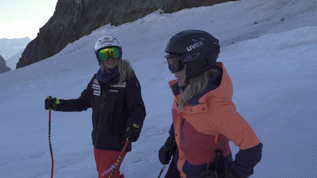Michelle besucht Skicrosserin Sanna Lüdi im Sommertraining