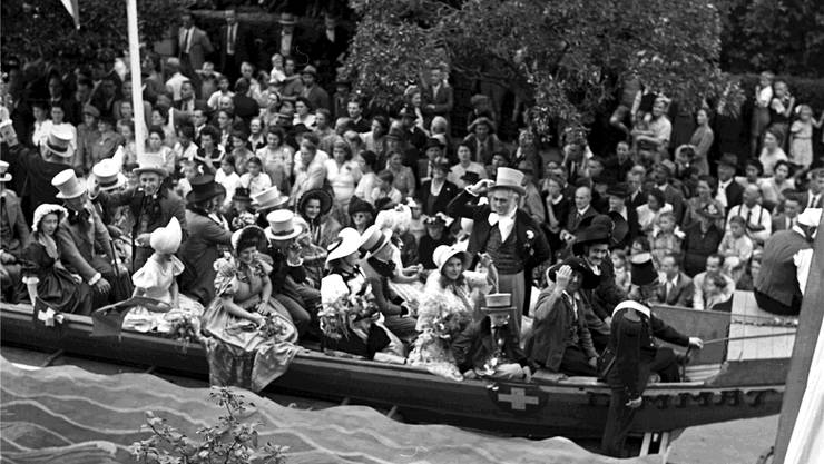 Aufnahme vom Umzug. «Die Badenfahrt 1947 war von einer überregionalen, ja nationalen Ausstrahlung.» Alois Feltrin