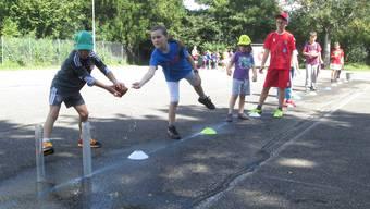 Schulsporttag im Grenchner Schulhaus Kastels