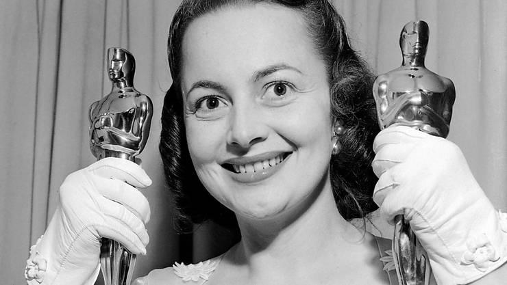Die Oscar-Preisträgerin Olivia de Havilland ist im Alter von 104 Jahren verstorben. (Archivbild 1950)