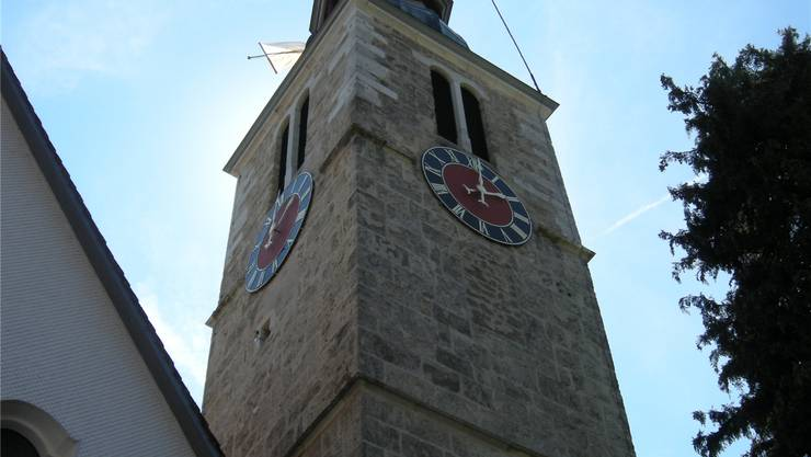 An Mariä Himmelfahrt wird in Oberdorf Chilbi gefeiert und der Kirchturm der Wallfahrtskirche Maria mit Fahnen geschmückt.