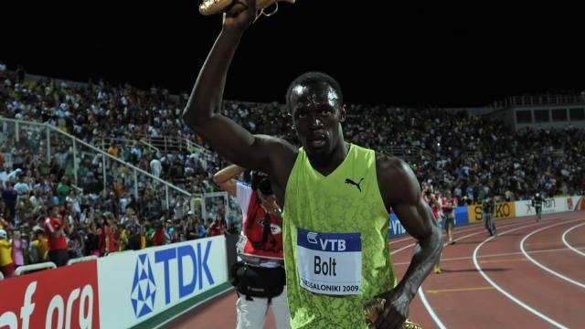 Usain Bolt beim Saisonfinale