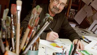 Jürg Furrer in seinem Atelier in Seon.