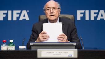 Sepp Blatter führt durch die Sitzung des Exekutivkomitees