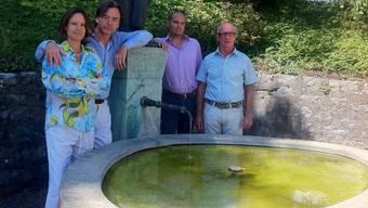 Das Organisationskomitee (von links): Daria Zappa, Massimiliano Matesic, Simon Knecht und Felix Vögele.