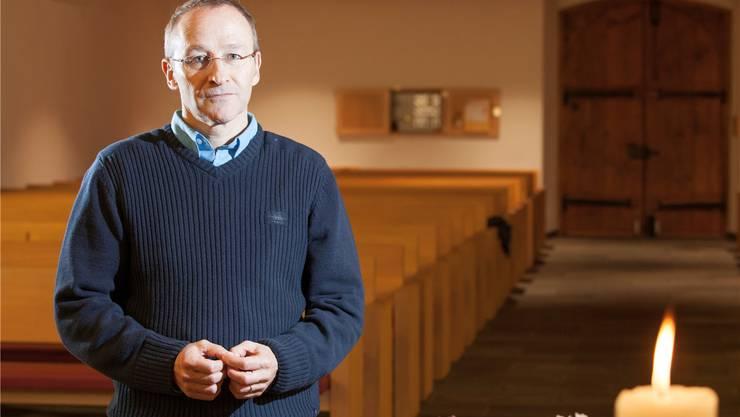 Andreas Schindler, neuer Pfarrer in der Reformierten Kirchgemeinde Reinach-Leimbach. Peter Siegrist