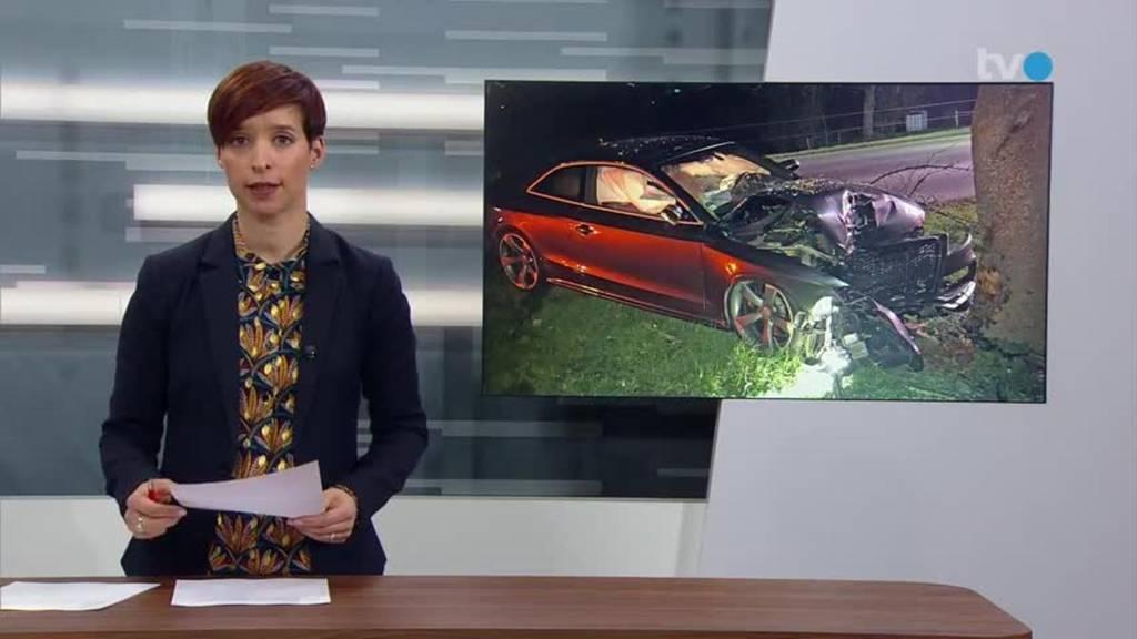In Baum geprallt: Hoher Sachschaden bei Unfall in Amriswil