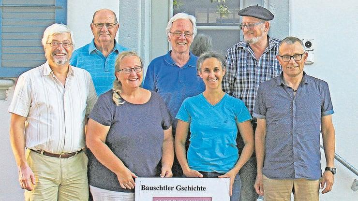 Das Redaktionsteam (von links): Kurt Heutschi, Erich Altermatt, Doris von Burg, Peter Wetzel, Leila Naji, Cubi/Heinz Grolimund, Frank Müller.