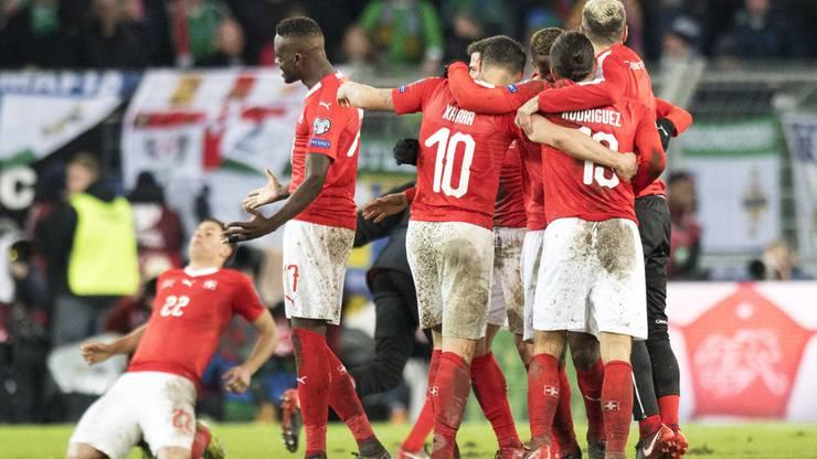 Jubel bei der Schweizer Nati – Die Schweiz fährt an die WM in Russland!