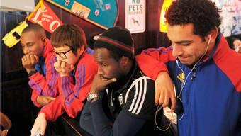 Die FCB-Spieler sitzen am Flughafen von St. Petersburg fest.